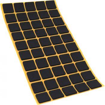50 x almohadillas antideslizantes de caucho celular EPDM / 20x20 mm / negro / quadrati / auto-adhesivas / 2.5 mm grosor