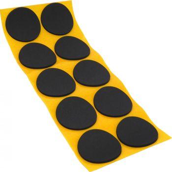 10 x almohadillas antideslizantes de caucho celular EPDM / Ø 45 mm / negro / redondas / auto-adhesivas / 2.5 mm grosor