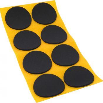 8 x almohadillas antideslizantes de caucho celular EPDM / Ø 50 mm / negro / redondas / auto-adhesivas / 2.5 mm grosor