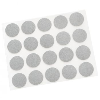 20 x cover caps   Ø 0.51'' (Ø 1,3 cm)   grey light   round   0.018'' (0,45 mm) thin, self-adhesive furniture patches by Adsamm®