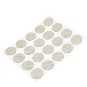 20 x cover caps   Ø 0.51'' (Ø 1,3 cm)   tissue   round   0.018'' (0,45 mm) thin, self-adhesive furniture patches by Adsamm®