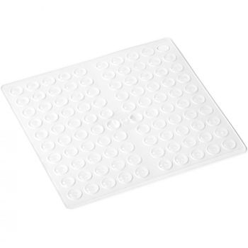 100 x self-adhesive bump stoppers | Ø 0,28'' (Ø 7 mm) | height: 0,06'' (1,5 mm) | transparent | round | hemispherical | buffers for adhesive bonding of furniture, doors, lids, glass tables, tiles | top-quality by Adsamm®