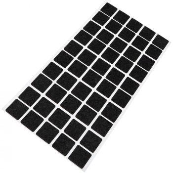 50 x almohadillas de fieltro / 20x20 mm / negro / redondo / Protectores de suelo para patas de mueble / auto-adhesivos / con grosor de 1,5 mm de la máxima calidad