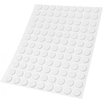 108 x almohadillas de fieltro / Ø 10 mm / blanco / redondo / Protectores de suelo para patas de mueble / auto-adhesivos / con grosor de 1,5 mm de la máxima calidad