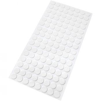 128 x almohadillas de fieltro / Ø 12 mm / blanco / redondo / Protectores de suelo para patas de mueble / auto-adhesivos / con grosor de 1,5 mm de la máxima calidad
