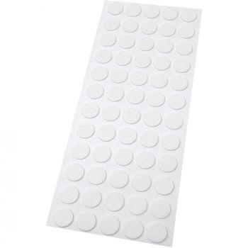 60 x almohadillas de fieltro / Ø 14 mm / blanco / redondo / Protectores de suelo para patas de mueble / auto-adhesivos / con grosor de 1,5 mm de la máxima calidad