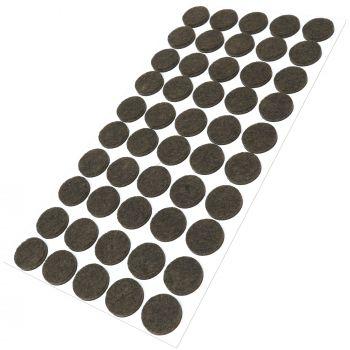 50 x almohadillas de fieltro / Ø 20 mm / marrón / redondo / Protectores de suelo para patas de mueble / auto-adhesivos / con grosor de 3,5 mm de la máxima calidad