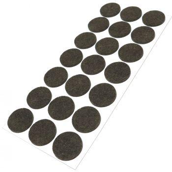 21 x almohadillas de fieltro / Ø 30 mm / marrón / redondo / Protectores de suelo para patas de mueble / auto-adhesivos / con grosor de 3,5 mm de la máxima calidad