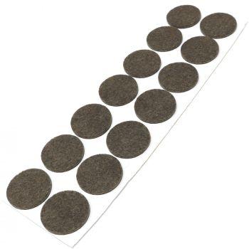 14 x almohadillas de fieltro / Ø 32 mm / marrón / redondo / Protectores de suelo para patas de mueble / auto-adhesivos / con grosor de 3,5 mm de la máxima calidad