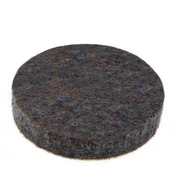 almohadillas de fieltro   Ø 26 mm   marrón   redondas   Patas de muebles adhesiva de la máxima calidad (5.5 mm) de Adsamm®