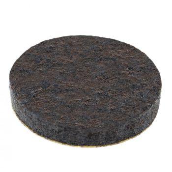 32 x almohadillas de fieltro | Ø 28 mm | marrón | redondas | Patas de muebles adhesiva de la máxima calidad (5.5 mm) de Adsamm®