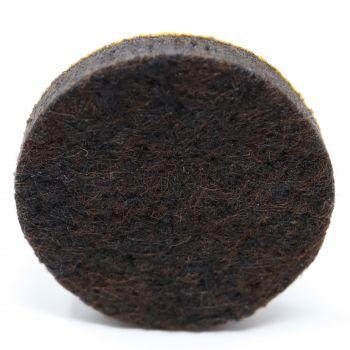 almohadillas de fieltro   Ø 30 mm   marrón   redondas   Patas de muebles adhesiva de la máxima calidad (5.5 mm) de Adsamm®