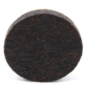32 x almohadillas de fieltro | Ø 36 mm | marrón | redondas | Patas de muebles adhesiva de la máxima calidad (5.5 mm) de Adsamm®