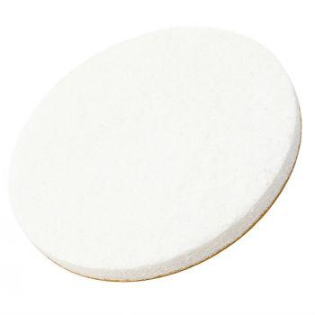 almohadillas de fieltro | Ø 60 mm | blanco | redondas | Patas de muebles adhesiva de la máxima calidad (5.5 mm) de Adsamm®