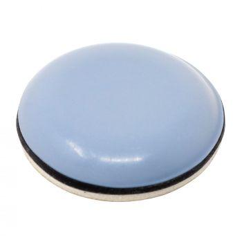 PTFE glides | Ø 0,98'' (Ø 25 mm) | grey-blue | round | Premium quality self-adhesive furniture sliders by Adsamm®