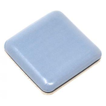 PTFE glides | 1,18'' x 1,18'' (30x30 mm) | grey-blue | square | Premium quality self-adhesive furniture sliders by Adsamm®