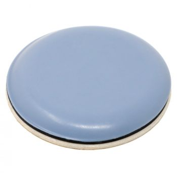 PTFE glides | Ø 1,57'' (Ø 40 mm) | grey-blue | round | Premium quality self-adhesive furniture sliders by Adsamm®