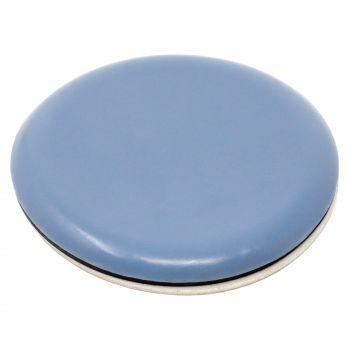 PTFE glides | Ø 1,97'' (Ø 50 mm) | grey-blue | round | Premium quality self-adhesive furniture sliders by Adsamm®